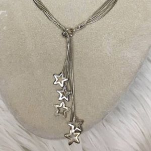 Sterling silver dangle star necklace